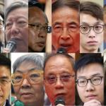 15 arrested pro dem figures collage (Photo: Courtesy Hong Kong Free Press)
